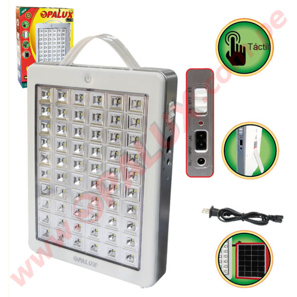 OP-5538 Lámpara Touch de Emergencia recargable 60 LED SMD 1