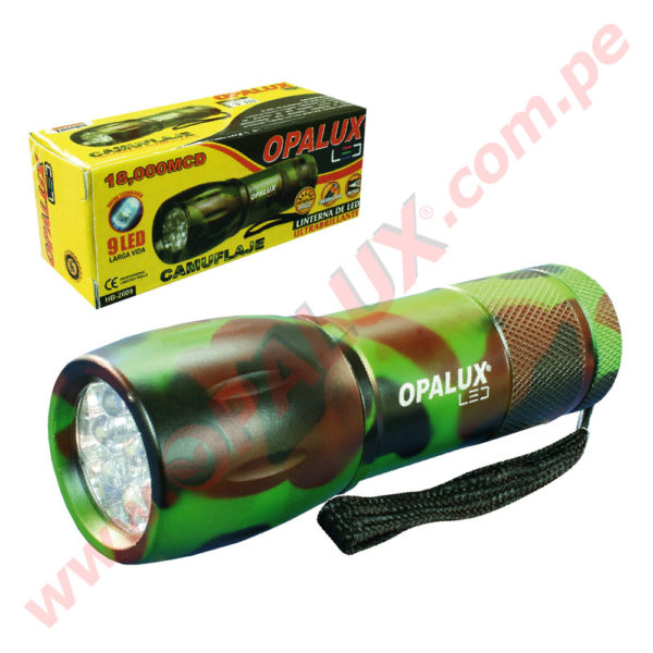 "YT-2009-4C Linterna ""OPALUX"" 9 Led Ultra-Brillante 1"