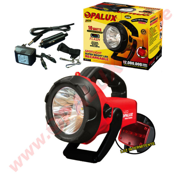 HB-4011T/R Spotlight Super bright LED Recargable 10Watts 1