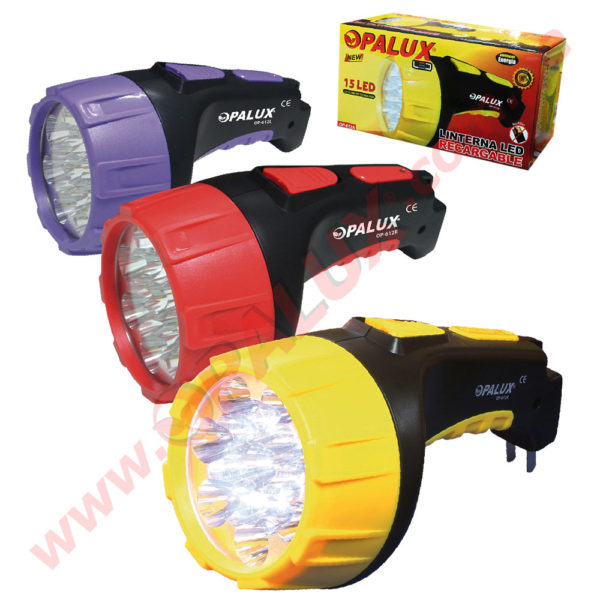 OP-612 Linterna LED Recargable 15LED 1