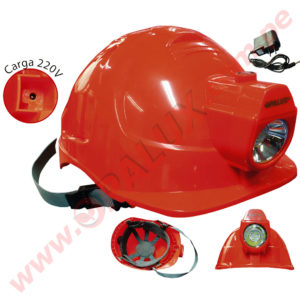 MC-100 Casco con linterna 7LED